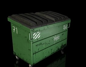 3D model low-poly Low Poly Dumpster
