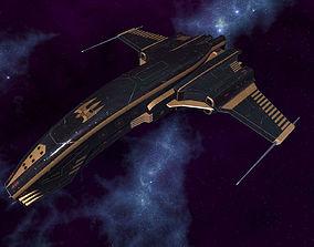 3D model Spaceship Dagger Type 1 Black