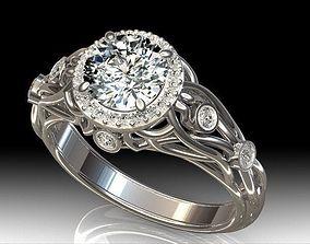 3D print model Halo Diamond Engagement Ring