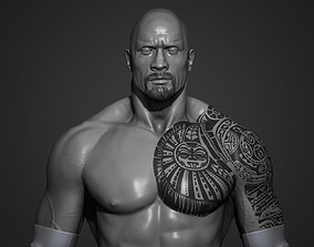 wwe The Rock - Dwayne Johnson 3D Print