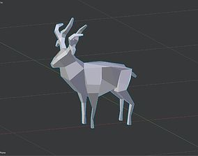 cerf low poly 3D printable model