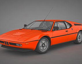 3D model Retro 80s Car