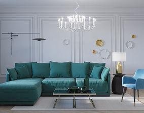 Interior Livivng Room Neoclassic 03 3D model