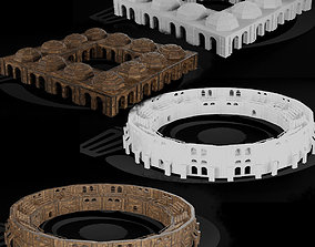 Medieval Arena and Trade Center Set 01 R 3D model
