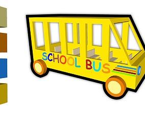Toy School Bus 3D model