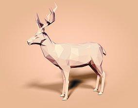 Cartoon Deer - Low Poly 3D model