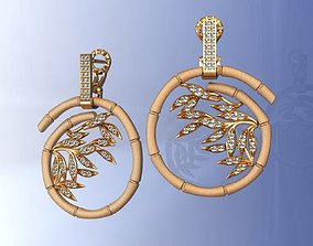Carrera Bambu Earrings 3D printable model