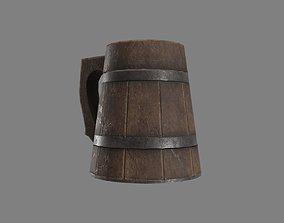Wooden Historic Tankard 3D asset