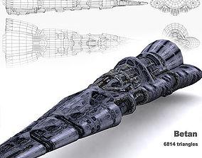 low-poly 3DRT - Norad Battleship - Betan
