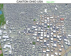 Canton Ohio USA 30km 3D asset