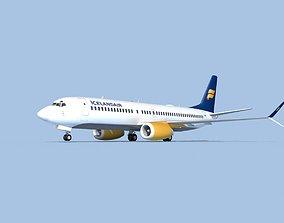 3D model Boeing 737-800 Max Icelandair