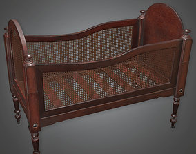 3D model ATT - Baby Bed Antiques - PBR Game Ready