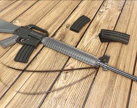 3D asset game-ready M16 Assault Rifle
