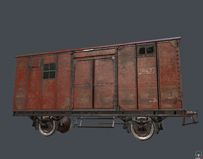 3D model railway carriage