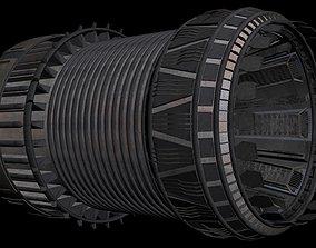 3D model Starship engine