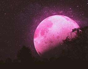 3D Pink Moon