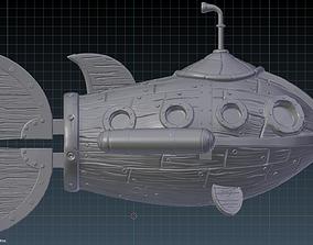 Steampunk Submarine 3D Print Model