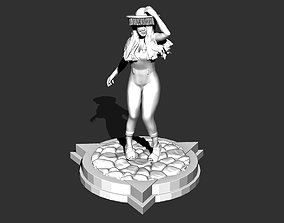 Festive brazilian Female figurine for 3d