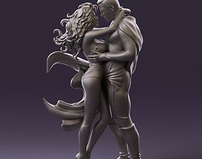 001034 man and woman in superhero suits 3D Print Ready