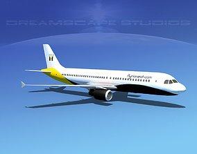 3D model Airbus A320 LP Monarch