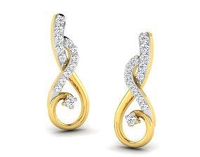 printable studs Women earrings 3dm render detail