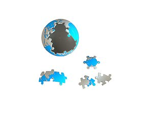 3D printable model Earth puzzle