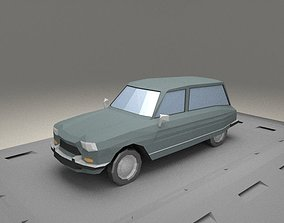 3D asset Citroen Ami 8 Fourgonette from 1970