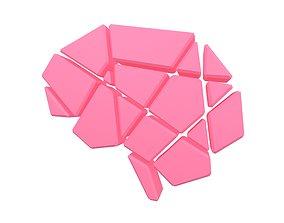 Brain Symbol v2 001 3D model game-ready
