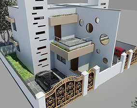 Row House Double twin Bunglow 3D model