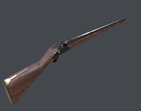 game-ready Flint musket 3D model