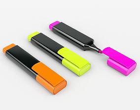 Highligher Pen 3D model