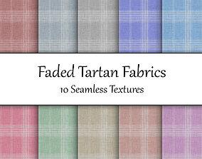 3D Faded Tartan Fabrics Seamless Textures Set