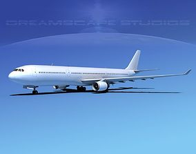 3D model Airbus A330-300 Unmarked 2