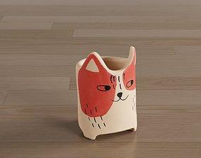Cutie Kitty Vaso 3D model