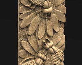 classic Decorative Panel 5 Bees 3D model