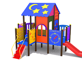 playground Playhouse 3D model realtime