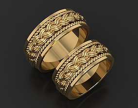 3D print model Wedding rings pigtail