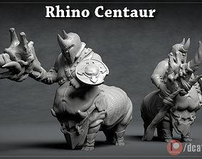 Rhino Centaur - 3D Printable Character - 2 Poses