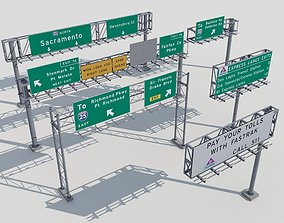 Highway signs 3D