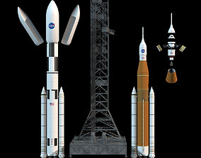 NASA SLS Space Launch System 3D tower