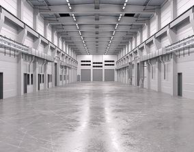 3D model Industrial Hall Interior 2