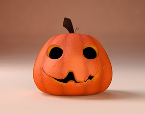 3D Cartoon Halloween Pumpkin