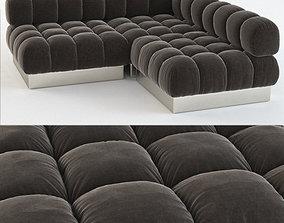 Harvey Probber sectional sofa 3D model