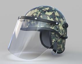 3D Helmet with Glass Visor