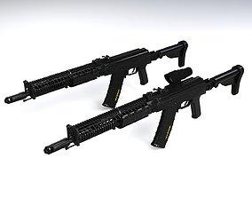 3D asset VR / AR ready AK-74M Zenit