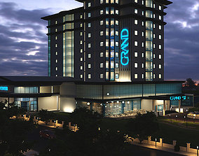 architectural architecture 3D Hotel