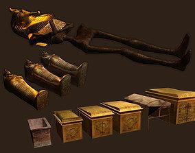 Tutankhamun 3D asset