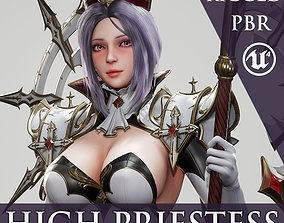 3D asset High Priestess - Game Ready