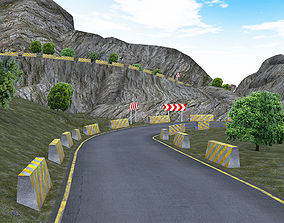 Mountain Road Pack 3D asset game-ready