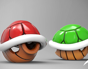 mario Turtle Shell Fan Art for 3D Print Model
